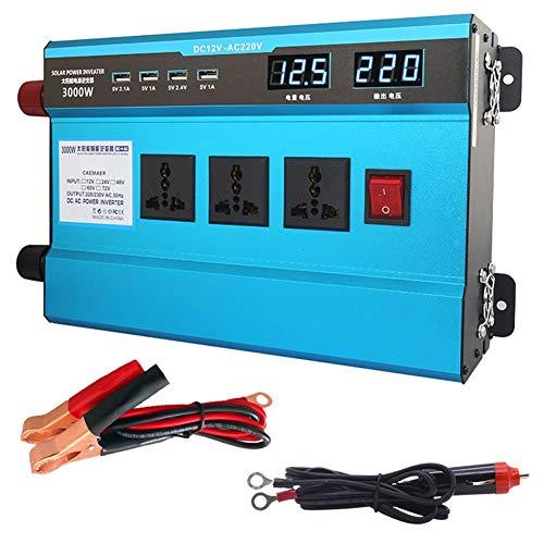 XBNBQ 500W 1200W 1600W 2200W 3000W Modifizierte Sinus Spannungswandler Wechselrichter 48/60V auf 220V Modified Sine Wave Power Inverter Umwandler für Auto48V-3000W