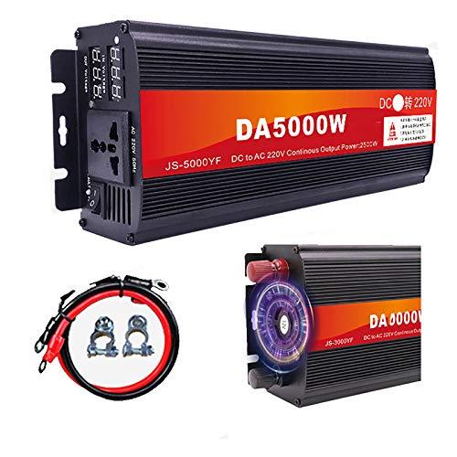 Zdcdy Wechselrichter für Fahrzeuge DC 12V 24V 48V 60V auf AC 220V, Spannungswandler KFZ Inverter mit Steckdose und LCD-Display, für Auto, Camping, Reisen,48V-5000W