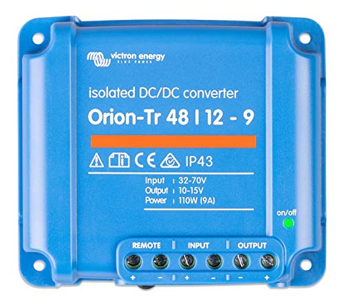 Victron Energy ORI481210110 Orion-Tr 48/12-9A Isolated DC Konverter, 48 auf 12 V-9 A (110 W)