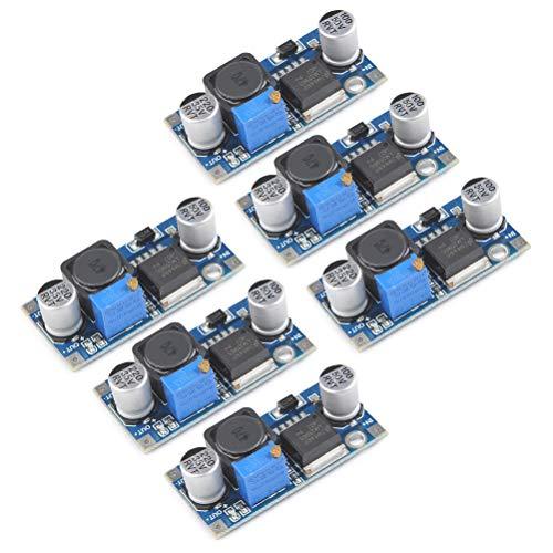 QLOUNI LM2596 DC bis DC Buck Converter 3,0-40V bis 1,5-35V Stromversorgung Step Down Modul, 6 Stück