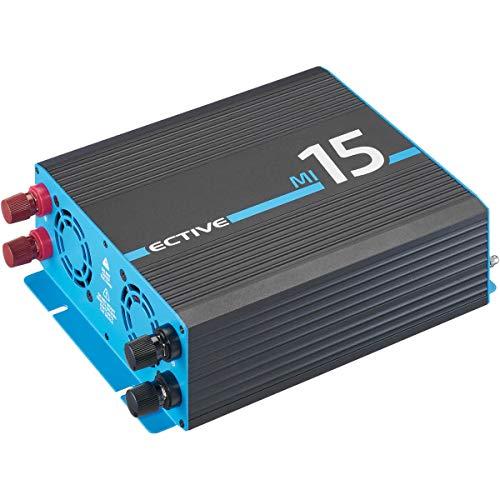 ECTIVE 1500W Wechselrichter 12V zu 230V Spannungswandler mit modifizierter Sinuswelle MI 15 in 7 Varianten: 300W - 3000W
