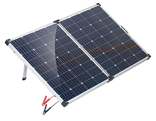 reVolt Solarkoffer: Faltbares mobiles Solar-Panel mit monokristallinen Zellen, 160 Watt (Solarpanele)