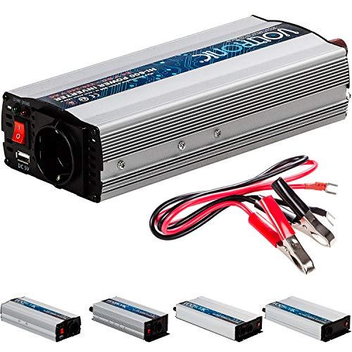 VOLTRONIC® MODIFIZIERTER Sinus Spannungswandler 600W mit E-Kennzeichen, 24V auf 230V, USB, Stromwandler Inverter Wechselrichter Auto PKW