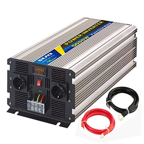 Sug 5000W DC 12V auf AC 220V 230V Wechselrichter Reiner Sinus Spitzenwert 6000W Spannungswandler Power Inverter Pure Sine Wave