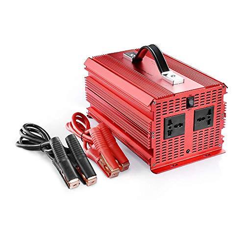 BESTEK 2000watt KFZ Spannungswandler 12V auf 230V Auto Wechselrichter Stromwandler 12 auf 230 Umwandler mit TÜV Zertifiziert Autobatterieclips Kabel 2000W