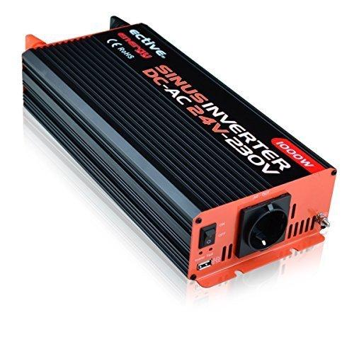 ECTIVE Reiner Sinus-Wechselrichter 24V auf 230V 1000W/2000W Spannungswandler (Inverter) by Energy