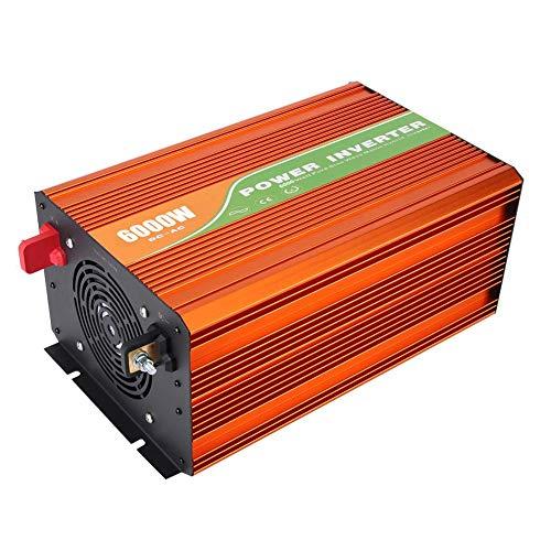 Ccylez 6000W Spannungswandler, 24V/48V bis 110V LCD Solar Rein Sinus Wechselrichter Power Inverter, 6000W Reiner Sinus und Hochauflösender LCD Bildschirm für Haushaltsgeräte(48V)