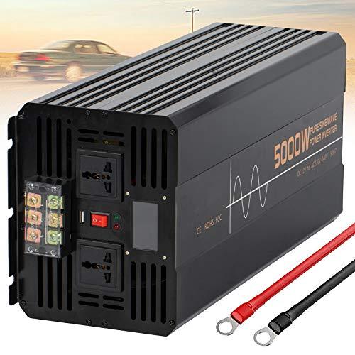 Wechselrichter 500W 1000W 1200W 1500W 2000W 2500W 3000W 3500W 4000W 5000W 6000W Reiner Sinus Spannungswandler DC 12V/24V auf 220V 230V AC Stromwandler Auto Konverter,5000W-24Vto220V
