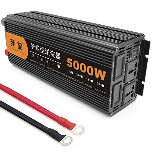 Reiner Sinus Wechselrichter 3200W/ 4000W/ 5000W /6000W /8000W /9000W /12000W /15000W Power Inverter Spannungswandler DC 12V/24V Auf AC 230V Umwandler - Pure Sine Wave Inverter Konverter,5000W-12V