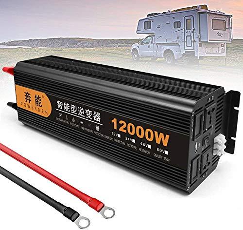 Reiner Sinus Spannungswandler Wechselrichter 2200W 3200W 4000W 5000W 6000W 8000W 3000W 12000W 15000W Inverter Pure Sine Wave Konverter 12V 24V auf 220V 230V mit Fernbedienung,LCD und USB (12000W,24V)
