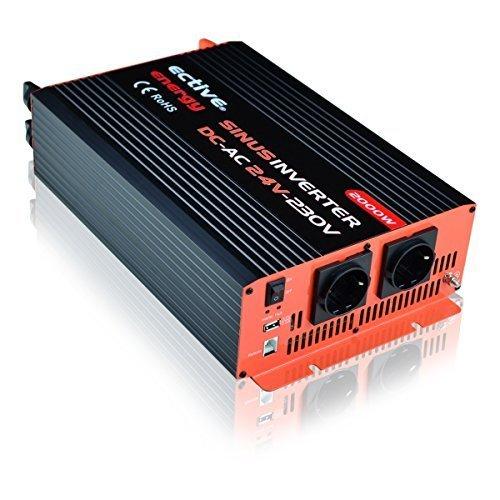 ECTIVE Reiner Sinus-Spannungswandler 24V auf 230V 2000W/4000W Wechselrichter (Inverter) by Energy