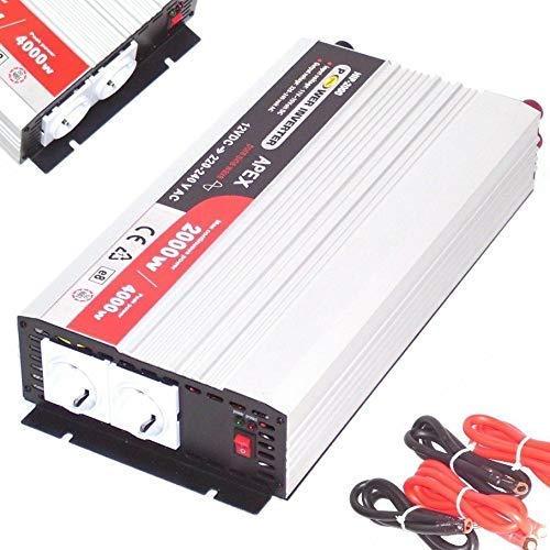 Sinus Spannungswandler HIP 12V 2000W, 4000W Stromwandler Wechselrichter Solar 06189 HIP-2000, Inverter Wechselrichter Stromwandler von 12V auf 230V reiner Sinus AWZ