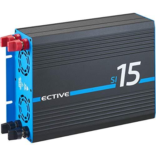 ECTIVE 1500W 12V auf 230V SI-Serie reiner Sinus Wechselrichter in 7 Varianten: 300W - 3000W