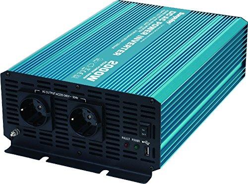 Sunpulse Spannungswandler P2000 2000W / 4000W 12V 230V Inverter Reiner Sinus Wechselrichter (Eingangsspannung (Input): 12V)