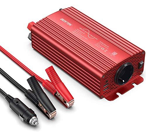 Wechselrichter 500W Reiner Sinus/Spannungswandler 12v 230v mit 4.2A Dual Smart USB-Anschlüsse Adapter Netzteil Kfz-ladegeräte für Geschaeftsfahrten und Urlaub