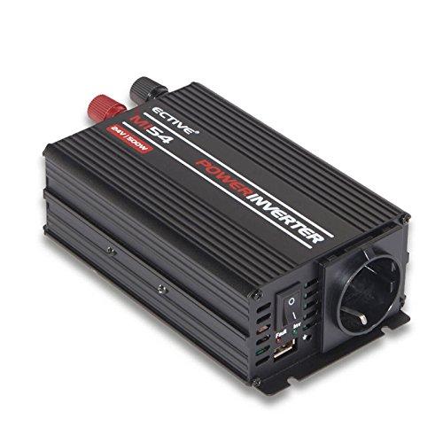 ECTIVE MI-Serie   Wechselrichter 500W   24V zu 230V   7 Varianten: 300W - 3000W   Modifizierter 24 Volt Spannungswandler DC auf AC, 24V auf 230V Stromwandler, Konverter, Inverter mit mod. Sinuswelle