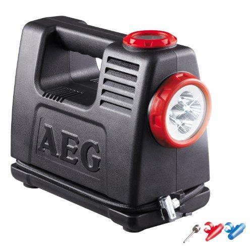 AEG 97180 Akku Luft- und Energiestation LA 10, mobile Stromquelle mit 12 und 230 Volt Adapter, maximal 10 bar